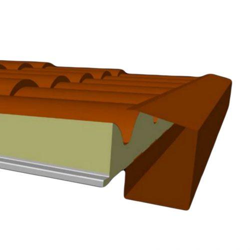 Frontal Canalon Para Panel Sandwich
